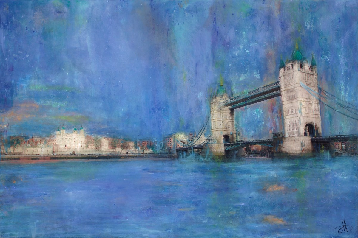 Tower Bridge by annie blanchet rouze -  sized 36x24 inches. Available from Whitewall Galleries